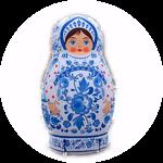 Матрешка Гжель Сударушка 3 м
